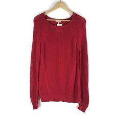 NWT Talbots Womens Size MP Long Sleeve Crewneck Tunic Sweater Red Soft $49