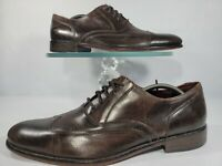John Varvatos Star USA Brown Leather Brogue Wingtip Longwing Oxfords Men's 11M