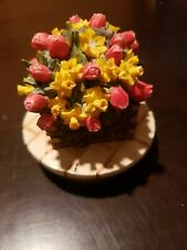 Candle Jar Topper, Floral, For Yankee Candle or Similar