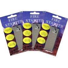 3 PACK • Solid Magnesium Military Grade Survival Fire Starter Kit Flint Striker