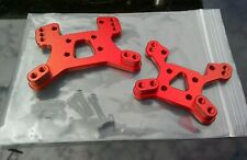 Upgrade Brand New Wltoys 144001 124019 Red Alloy Shock Towers. UK Seller.