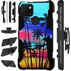 Luxguard For T-Mobile Revvl 4 /4+/Revvl 5G Phone Case Holster Cover SUNSET PALM