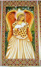 "Golden Angel Religious Christmas Michael Miller Fabric 23"" Panel #CX4648"