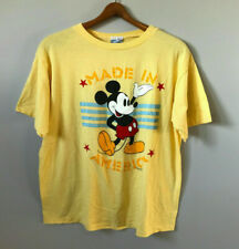 Vintage 80s Disney Mickey Mouse Single Stitch Made in America Thin T Shirt USA L