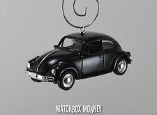 Classic Black Volkswagen Beetle Custom Christmas Ornament VW Bug Herbie 1/60