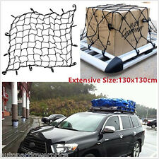 70*70cm Car SUV Roof Cargo Elastic Net Luggage Rack Net For Travel With Hooks