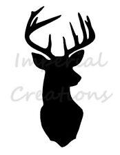 """DEER HEAD 1"" Wildlife Silhouette 8.5"" x 11"" Stencil Plastic Sheet NEW S21"