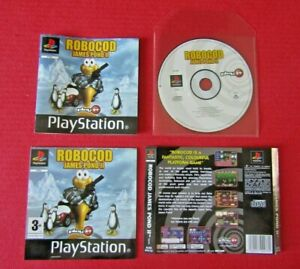 Robocod James Pond II PS1 Game Disc Manual Inserts Only NO CASE Pal UK