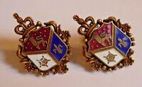 Vintage Coro Heraldic Screw Back Earrings, Excellent Condition