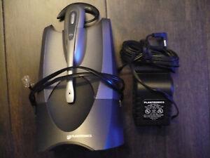 Plantronics CS50 Wireless Office Headset System w/ Base Station & Power Adapter