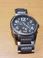 Guess Carbon Fiber Kevlar Gray Racing Sport Watch Analog Day Date Big Face 47mm