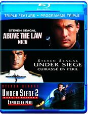 STEVEN SEAGAL: ABOVE THE LAW + UNDER SIEGE + UNDER SIEGE 2 *NEW BLU-RAY*