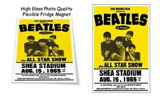"The Beatles 1965 Shea Stadium Concert Poster 3""X4"" FRIDGE MAGNET"