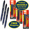 Pilot FriXion Clicker Erasable Navy Gel Ink Pens, 3 Pens with 3 Packs of Refills