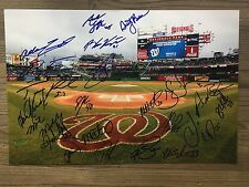 2017 WASHINGTON NATIONALS team signed 12x18 photo ~ 23 signatures!
