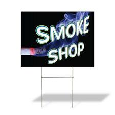 Weatherproof Yard Sign Smoke Shop Outdoor Advertising Printing F Lawn Garden
