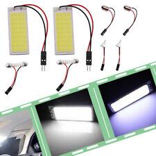 2x 12V Xenon HID White 36-COB LED Dome Map Car Light Bulbs Interior Panel Lamps