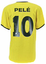 Pele Authentic Signed Brazil Jersey Autographed in Silver PSA/DNA ITP