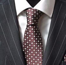 Tie Neck tie with Handkerchief Bronze with Silver