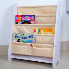 Kids Children Bookcase Canvas Book Magazine Shelf Bookshelf Storage Display Gift #2