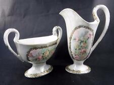 T&V Limoges Cream & Sugar Set Signed J. Williams 1908