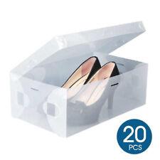 Transparent Plastic Shoe Storage Clear Boxes Foldable Case 20/40/60pcs AU Stock
