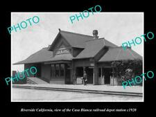 Old Historic Photo Of Riverside California, The Casa Blanca Railroad Depot c1920