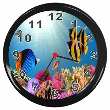 Tropical Fish Room Decor Wall Clock