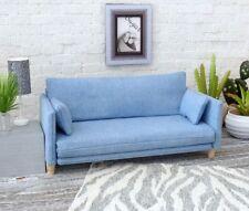 1/6 scale sofa in Med light blue Denim Fabric,for Bratz, Blythe,Barbie,MonsterHi