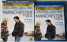 MANCHESTER BY THE SEA BLU RAY DVD 2 DISC SET + SLIPCOVER SLEEVE FREE SHIPPING