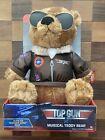 Top Gun Musical Plush Teddy Bear Sings Danger Zone Maverick Tom Cruise TESTEDNEW