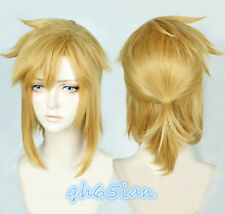 The Legend of Zelda Link Short Golden Pony tail Cosplay Hair Wig + Cap