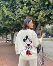 ZARA Minnie Mouse Disney Sequinned Sweater Size M