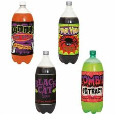 PACK OF 4 HALLOWEEN SOFT DRINK BOTTLE LABELS HORROR PARTY DECORATIONS SPIDER