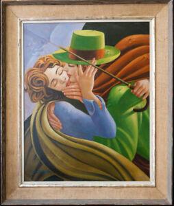 "Tamara De Lempicka (1898 - 1980) CA/NY Listed Artist Oil ""Gentleman And A Lady"""