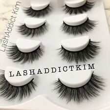 4 Pairs Top 3D 100% Mink Soft Long Thick Makeup Eye Lashes False Eyelashes | US