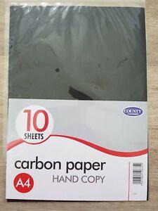 Carbon Paper Black A4 (10 Sheets) Hand Copy,