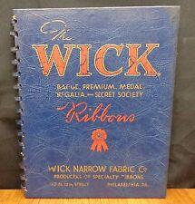 WICK BADGE PREMIUM MEDAL REGALIA & SECRET SOCIETY RIBBONS Wick Narrow Fabric Co