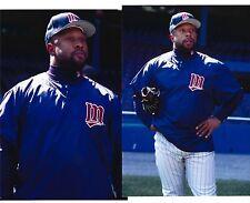 """(2) Kirby Puckett 4/24/96 at Detroit Topps Vault Gloss Photos 4"""" x 6"""" Twins HOF"""