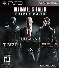 Ultimate Stealth Triple Pack, Thief, Hitman Absolution, Deus Ex Human Rev. PS3