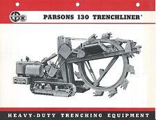 Equipment Brochure - Parsons - 130 Trenchliner - Trench Excavator c1960 (E3755)