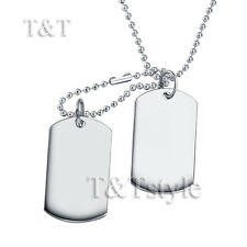UNIQUE T&T Plain Double DOG TAG Small Size NEW