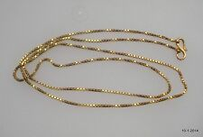 vintage antique 20k gold chain necklace from rajasthan india handmade