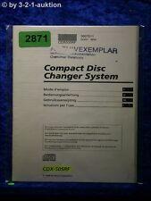 Sony Bedienungsanleitung CDX 505RF CD Changer System (#2871)