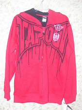 "Boy's ""Tap Out"" Tapout Signature Zip-Up Hoodie Jacket  (Blood Red) Size Lg 14/16"