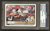 Willie Roaf signed autograph 1998 UD Choice PSA Slabbed