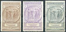 1923 Pro Cassa di Previdenza Camicie Nere - 3 valori Nuovi MNH Regno