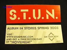S.T.U.N. STUN Movement Red RARE Amp Case Guitar Sticker
