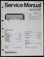 Technics SH-X1000 Original Digi Processeur Manuel de Service/Diagram/Pièces