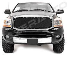 06-08 Dodge Ram 1500+2500+3500 Black Packaged Mesh Grille+Rivet+Chrome Shell